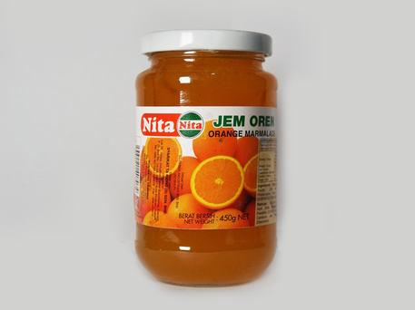 NITA Glass Bottle Jam, Orange