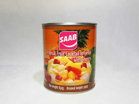 SAAB Tropical Fruit Cocktail with Cherry