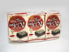 Ock Dong Ja Roasted Seaweed, Spicy Flavor (9-pk Outer Pack)