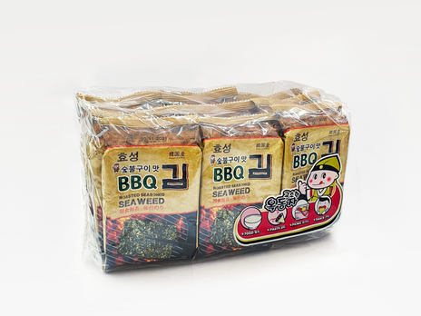 Ock Dong Ja Roasted Seaweed, BBQ (9-pk Outer Pack)