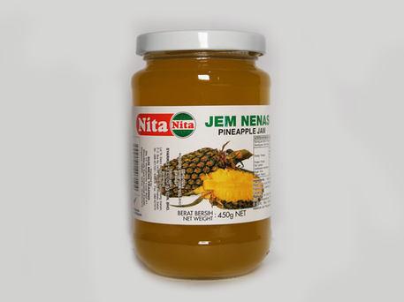 NITA Glass Bottle Jam, Pineapple
