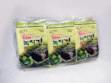 Ock Dong Ja Roasted Seaweed, Green-Tea (9-pk Outer Pack)