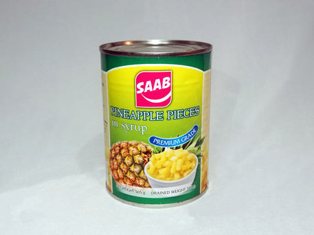 SAAB Canned Pineapple Pieces In Syrup