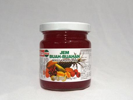 NITA Glass Bottle Jam, Mixed Fruits