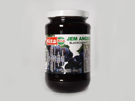 NITA Glass Bottle Jam, Blackcurrant