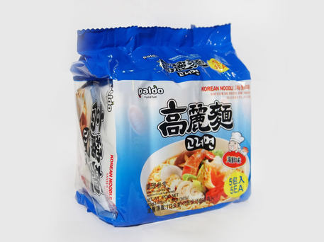 PALDO Seafood Korean Noodle (5-pk Outer Pack)