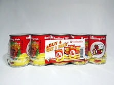 SF Fried Ssrdines In Chili Sauce 5-can Pack