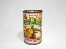 Smiling Fish Green Curry Fried Mackerels