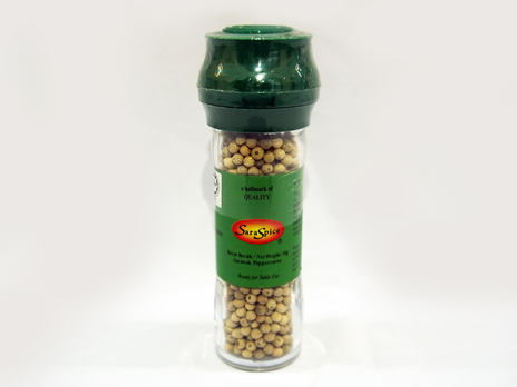 SARASPICE White Pepper Grinder Non-Refillable 50g