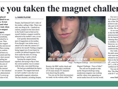 LIGHT NEWSPAPER: Have you taken the magnet challenge?