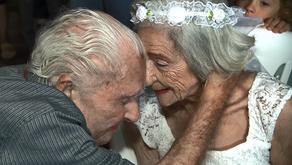 Noivos de 100 e 96 anos celebram casamento em Campinas: 'Amor puro'