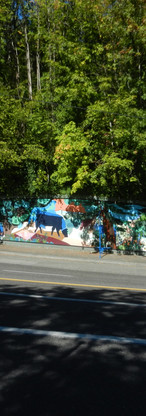 Hillsdale History Mural on Capitol Highway
