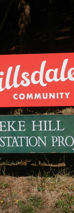 Hillsdale Welcome Sign
