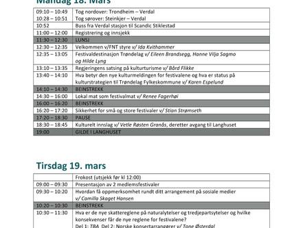 Program for Festivalkonferansen 2019