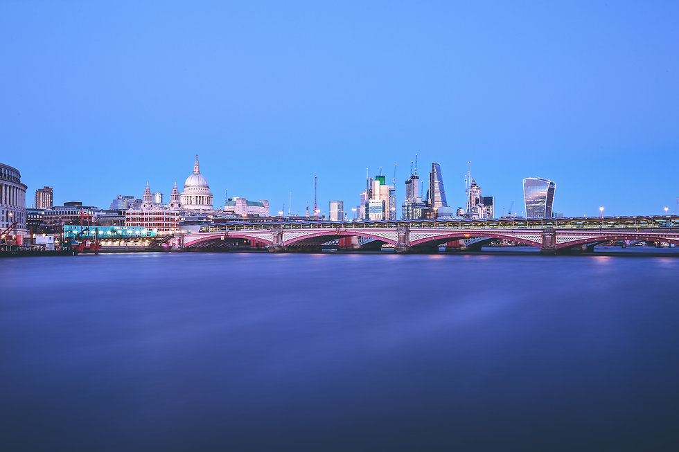 River Thames and the city of London
