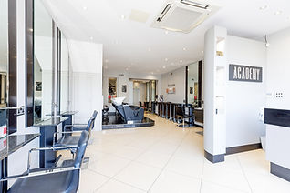 business photography shoot of interior of hairdressers