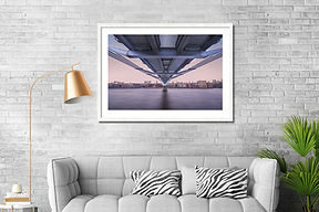 Wall Art picture of the underside of the Millenimum Bridge in London