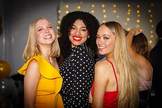 3 party girls pose for event photo epsom surrey