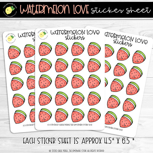Watermelon Love Sticker Sheet
