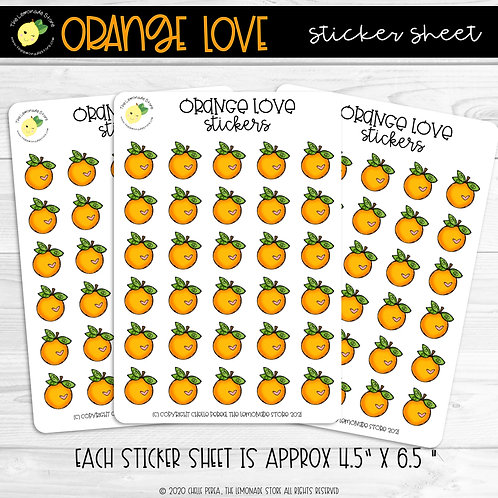 Orange Love Sticker Sheet