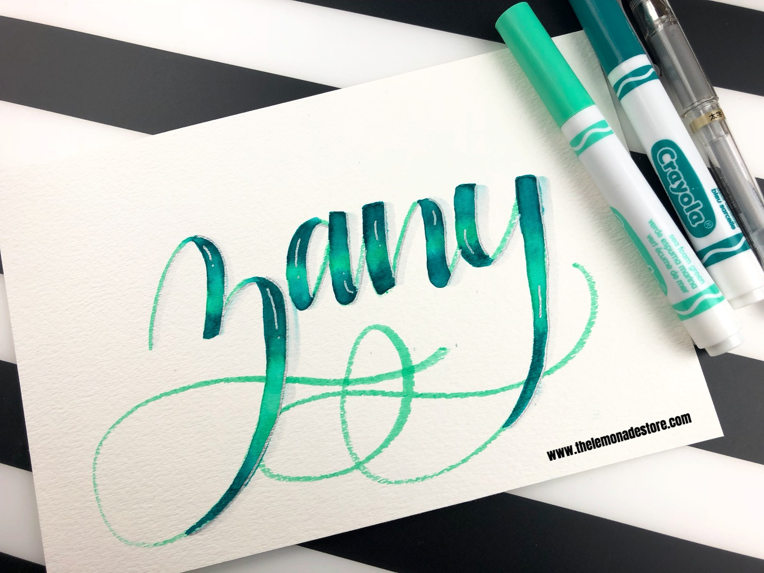 Blending with crayola markers zany the lemonade store: artist