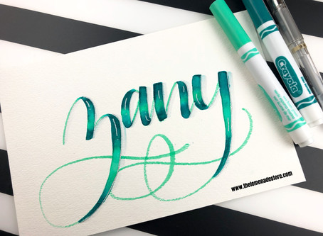 Blending with Crayola Markers - Zany
