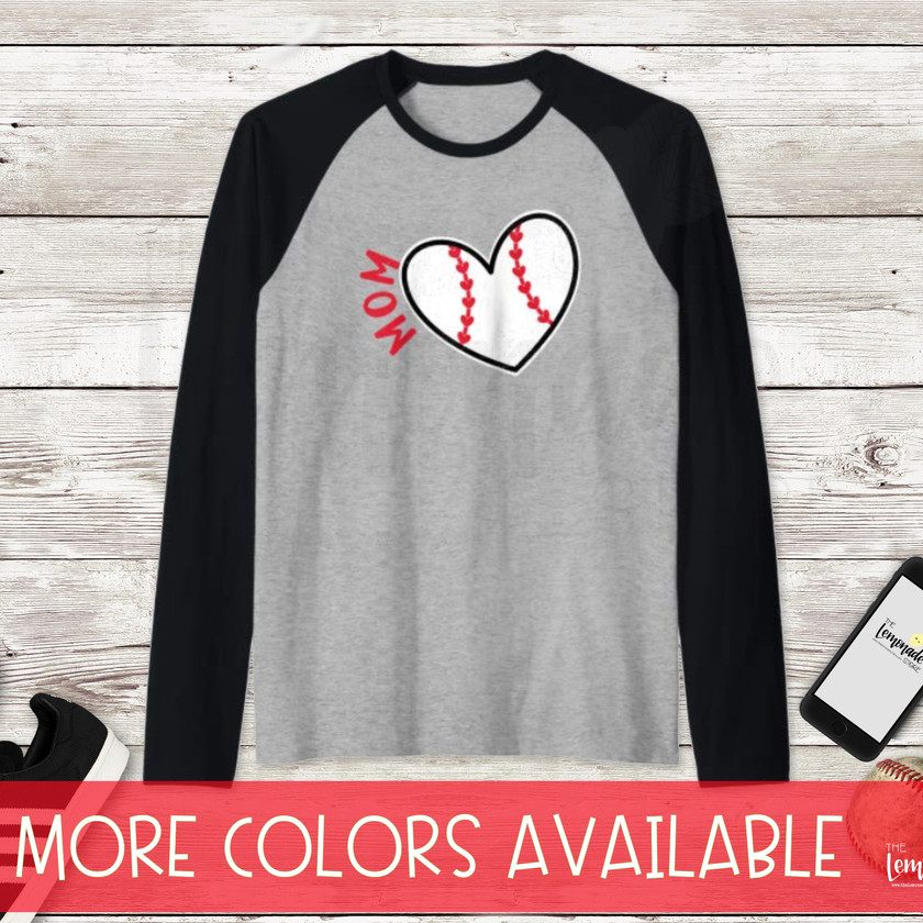 Baseball Heart Mom T-Shirt