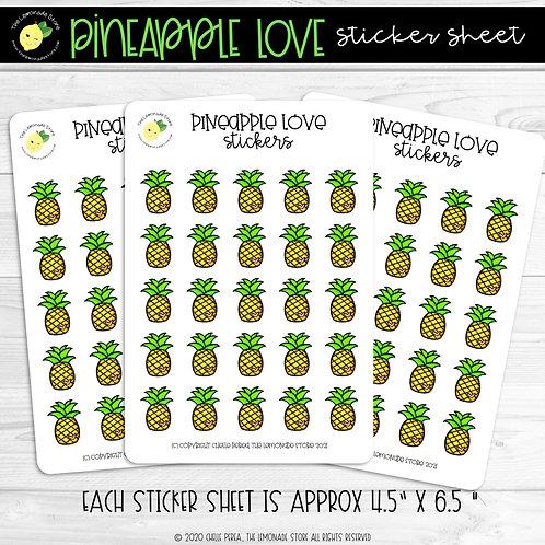 Pineapple Love Sticker Sheet
