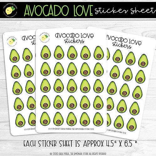 Avocado Love Sticker Sheet