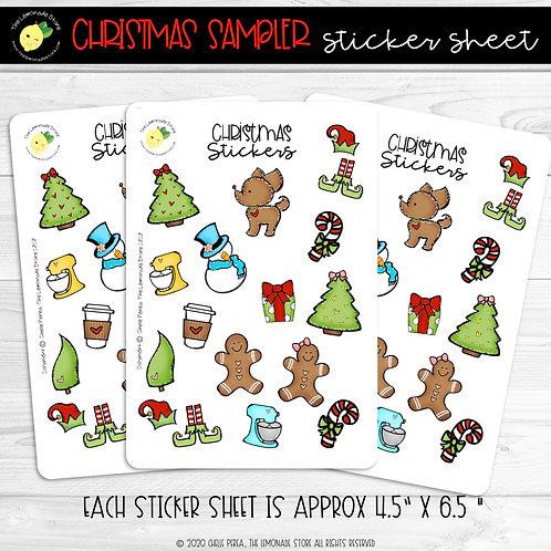 Christmas Sampler Sticker Sheet