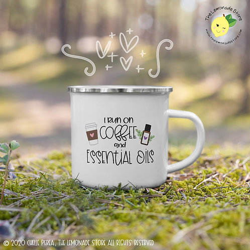 I Run on Coffee and Essential Oils Mug