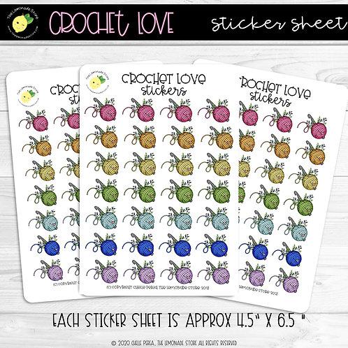 Crochet Love Sticker Sheet