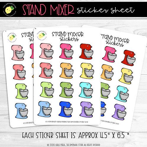 Stand Mixer Sticker Sheet