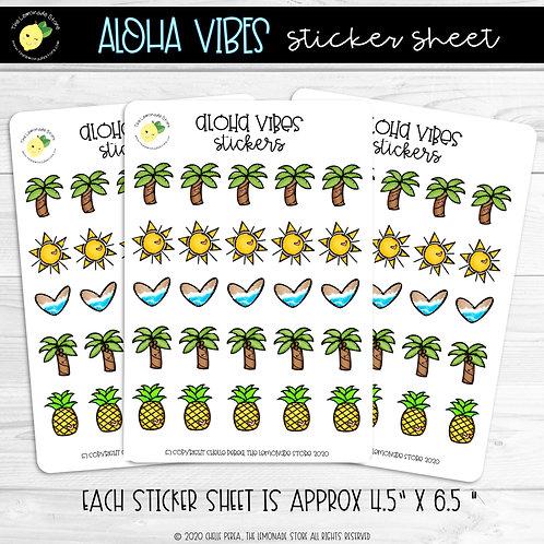 Aloha Vibes Sticker Sheet
