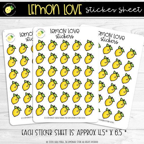 Lemon Love Sticker Sheet