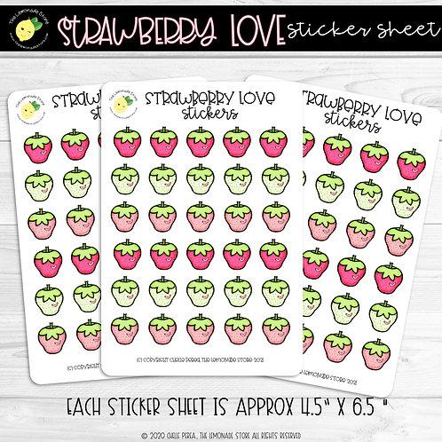 Strawberry Love Sticker Sheet