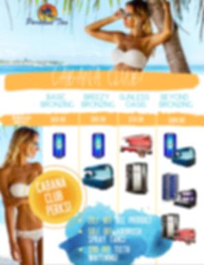 Paradise Tan Wellington Cabana Club Membership