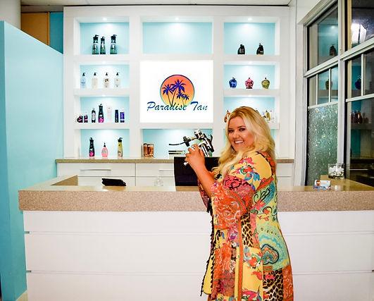 Diana Zajicek Paradise Tan Wellington owner