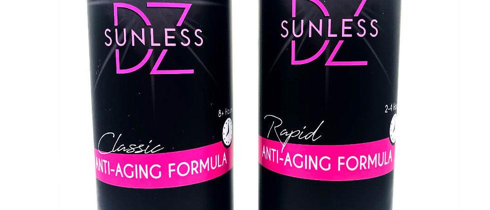Samples of Anti-Aging Spray Tan Formula