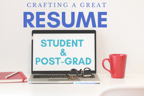 How to Write a Resume + Sample Resume (Student & Post-Grad)