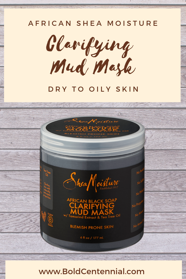 Jar of Shea Moisture Clarifying Mud Mask