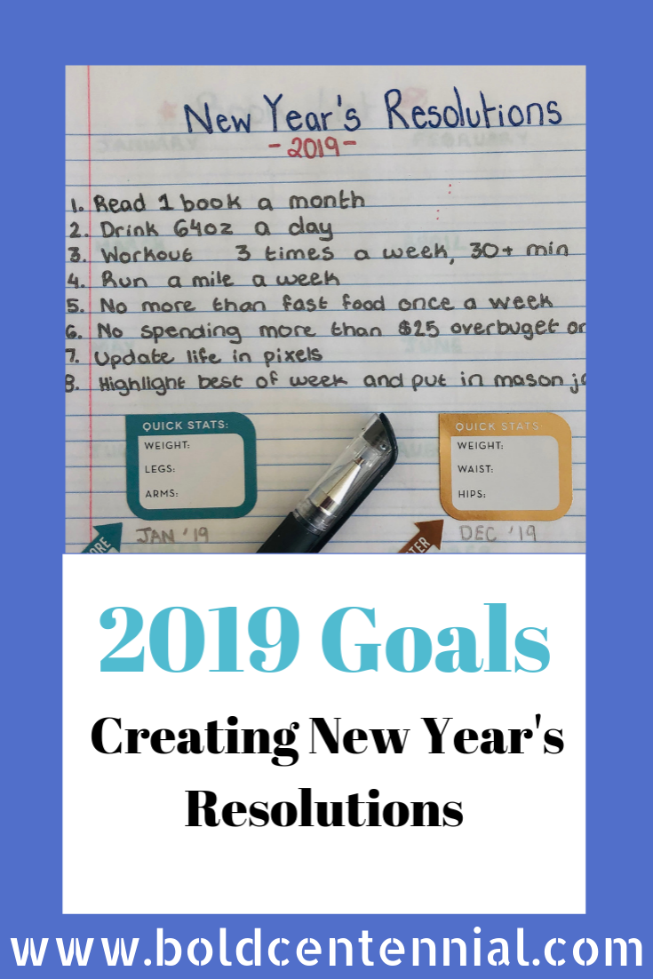 Creating 2019 New Year's Resolutions