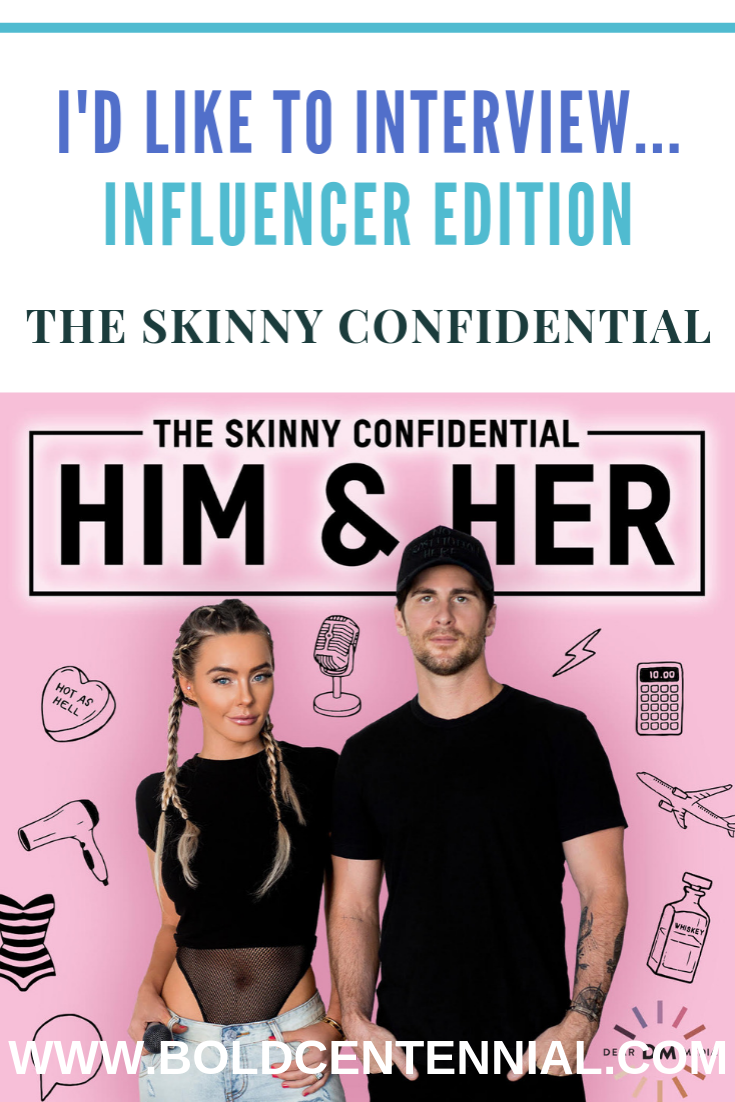 The Skinny Confidential Him & Her Podcast Image depicting Lauryn Evarts and Michael Bosstick