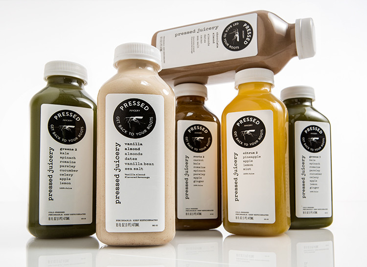 Collection of Pressed Juicery juices from the Cleanse 1 collection