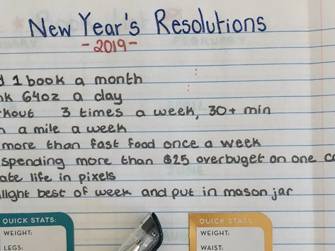 My Goals and New Year's Resolutions for 2019