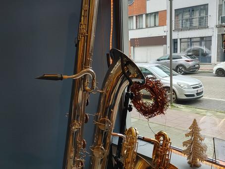 Een saxofoon met een verhaal: de contrabassaxofoon.