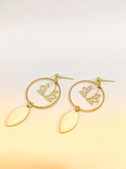 Boucles lotus doré