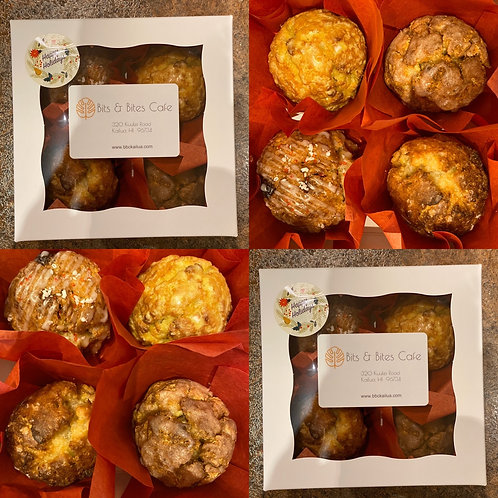 Holiday square gift box (4 scones)