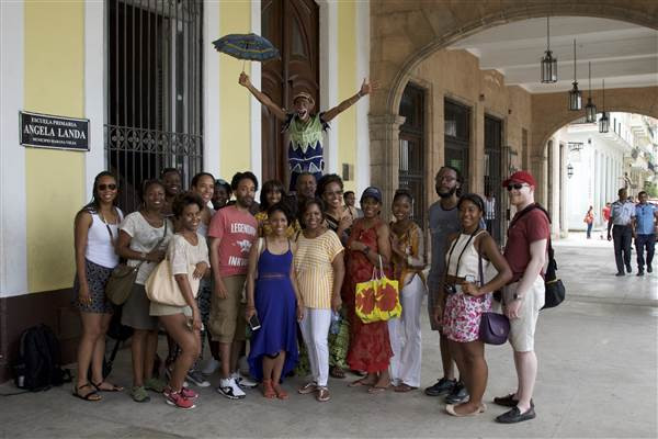 HBCU Love: Howard University, Morehouse College and Spelman College alumni in Habana Vieja.