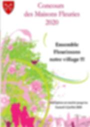 affiche MAISONS FLEURIES 2020 du 23 juin